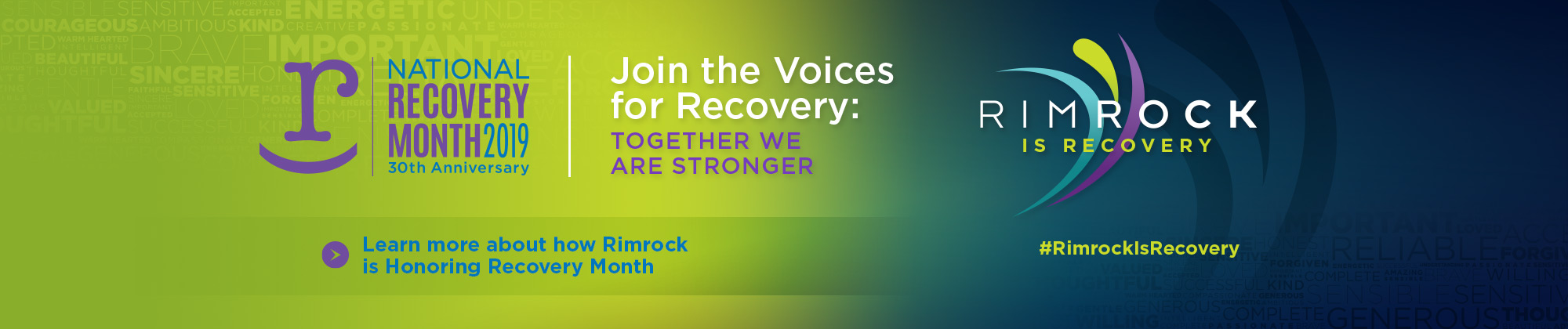 Rimrock - Rimrock is Recovery - Celebrate Recover Month