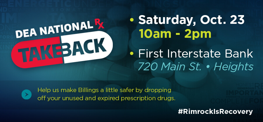 Rimrock - Rimrock is Recovery - Join Rimrock for National Prescription Drug Take Back Day 2021!